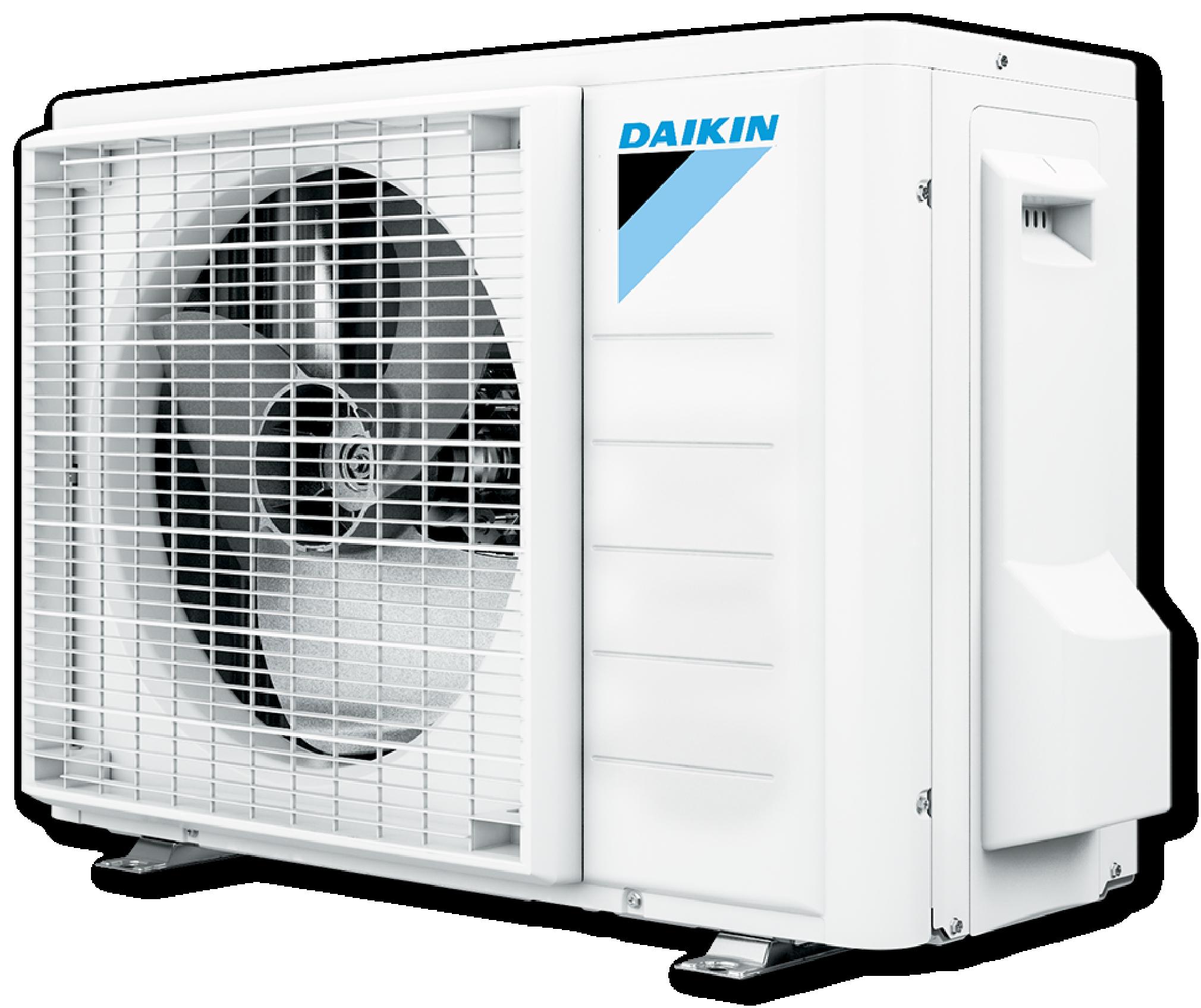 Utedelen på varmepumpen Daikin Gulvmodell fra Varme- og Kjølesystemer