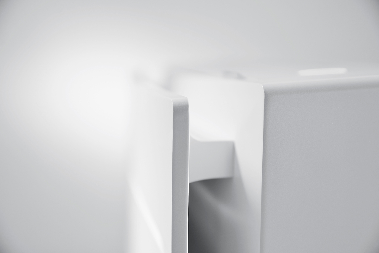 Designdetalj fra varmepumpen Daikin Gulvmodell fra Varme- og Kjølesystemer