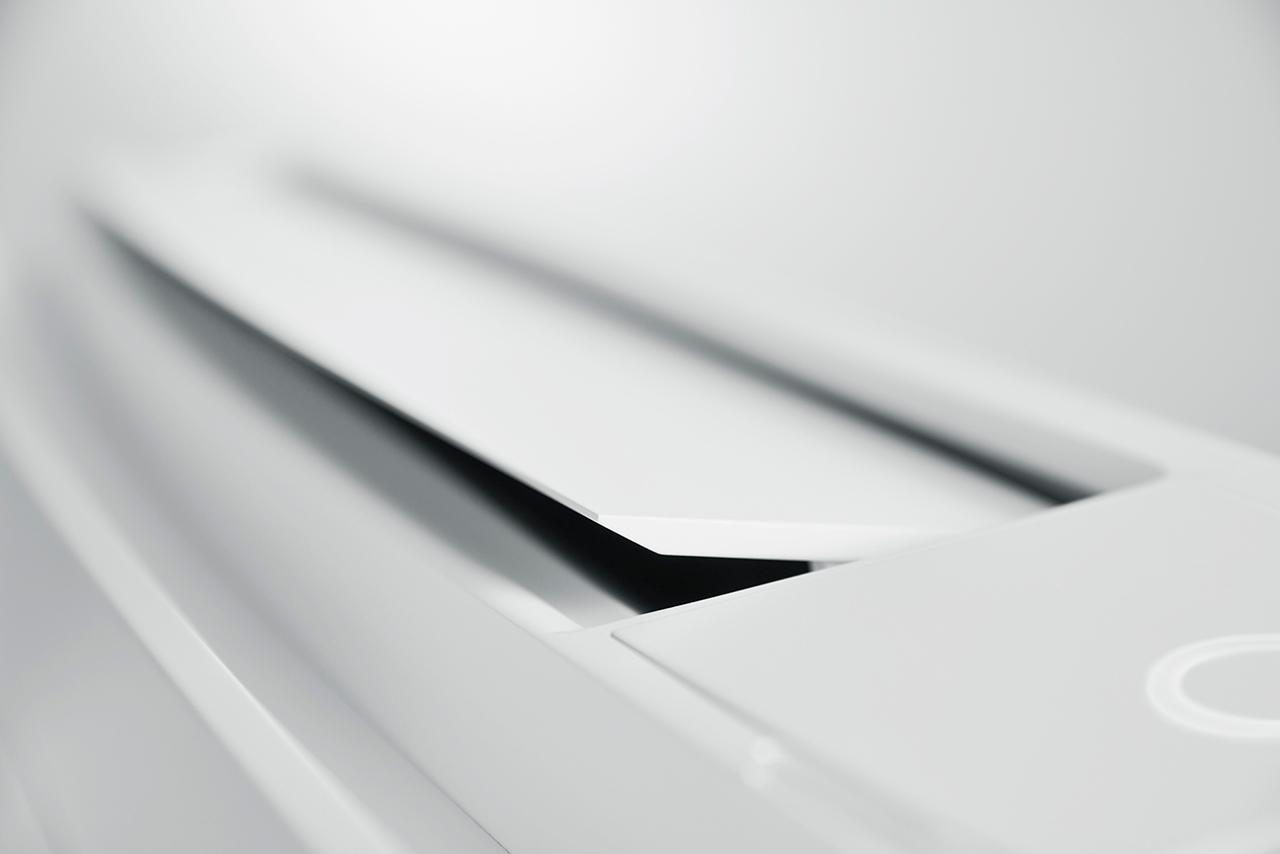 Flaps detalj fra varmepumpen Daikin Gulvmodell fra Varme- og Kjølesystemer