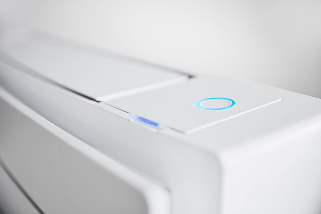 LED sensor detalj fra varmepumpen Daikin Gulvmodell fra Varme- og Kjølesystemer